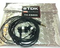 10pcs/lot Tdk th-eb800 metal phone headphones Bass earphones mp3 in ear HIFI headset Noise isolating free shipping Wholesale