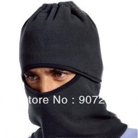 Black Men's Cycling Full Face Neck Ski Mask  Hat Veil Fleece Hood Hat Cap