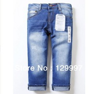 Retail - High quality 2-10 years  fashion cool cotton denim boys jeans brand new children's long pants  kids girls boys pants
