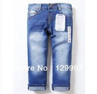 Retail - High quality 2-10 years  fashion cool cotton denim boys jeans brand new children's long pants  kids girls boys pants