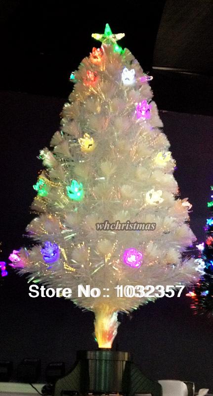 Free Shipping/120cm White Fiber Optic christmas tree/Hoilday decoration(China (Mainland))
