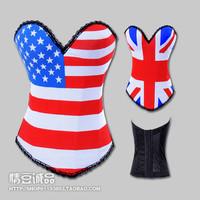 American flag print pattern shaper vest waist abdomen drawing beauty care shaping underwear thin