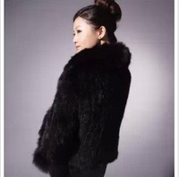 new 2013 hot sale Genuine  Fox mink knitted outerwear women's mink knitted outerwear elegant free shipping