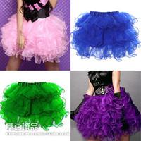 Sexy fashion all-match bust skirt puff skirt miniskirt layered pleated gauze princess  stage skirt