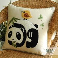 Free shipping American sofa cushion cartoon lu embroidery rustic fabric kaozhen office fluid pillow