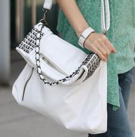 Hot-selling 2013 punk rivet chain portable one shoulder cross-body bags large women's handbag bags