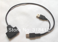 USB2.0 to 7+6 13 13P Pin Serial ATA Slim Slimline SATA 2.0 II Laptop CD/DVD Optical Device Adapter Converter Cable