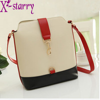 FLYING BIRDS 2013 preppy style vintage color block women's handbag bucket shoulder bag messenger bags HP046A
