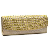 Designer Genuine Leather Soft Dot Studded Women Evening Bags Clutch Women Messenger Bags