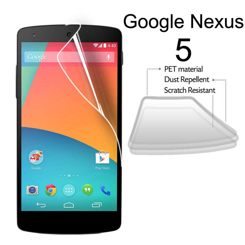 Limpar protetor de tela transparente para o Google Nexus 5 LG E980 frente Screen Guard Film com pano 10 pçs/lote(China (Mainland))