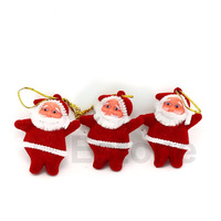 20Pcs/Lot Cute Xmas Decor Santa Claus Ornament Hanging Christmas Decoration Toys Free Shipping