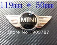 50pcs 3D chrome metal mini bonnet boot emblem 119mm*50mm stickers coopers works badge wholesale