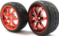 4PCS RC modelcar parts tires and rims 1:10 Car On Road 12 Spoke Plastic Wheel Rim & Drift Tyre,Tires250084