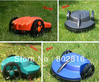 Free Shipping Electric Lawn Mower  Robot With Virtual Wire 100m+CE&ROHS+Lead-acid Battery+Auto recharged
