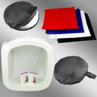 Photo Studio soft box Shooting Tent Softbox Cube Box ,60 x 60cm/photo light tent+portable bag+ 4 Backdrops