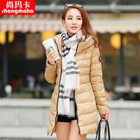 2013 winter casual wadded jacket outerwear cotton-padded jacket outerwear medium-long slim female cotton-padded jacket
