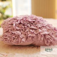 Free shipping Taro 100% cotton rustic car sofa cushion pillow cover cushion cover core