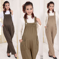 2014 Autumn Summer Overalls Maternity Clothing 100% Cotton Casual Gravidas Bib Pants Suspender Trousers for the Pregnant Females