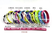 500pcs free shipping NEW ONE DIRECTION camouflage colors 1D silicone band Music bracelet  DHL