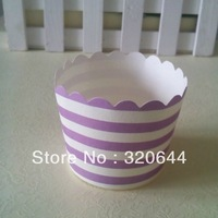 NEW ARRIVAL!!200pcs/lot Free Shipping Purple Stripe paper cake cups, MUFFIN CUPCAKE CASES, bake baking cup,cake holder