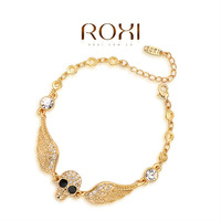 ROXI -Fashion Skull Cross bracelet , AAA zircon,Chinese style/Chrismas/Valentine's Day gift.Environmental Jewelry. 2060019605A