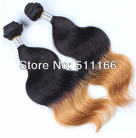 Malaysian virgin hair body wave ombre hair extensions/weft 100% human virgin hair 3pcs/lot mixed dhl/fedex/ups fast delivery