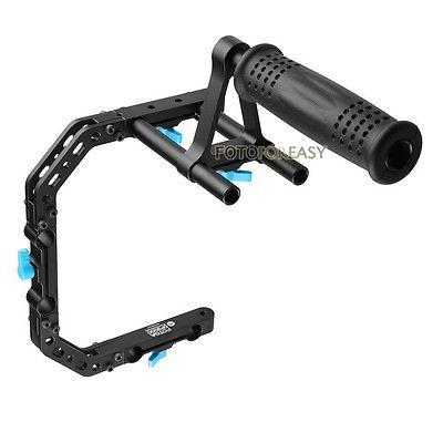 Fotga DP3000 PRO C - форма поддержки флягодержатель кронштейн + топ ручка для 15 мм стержень DSLR рог