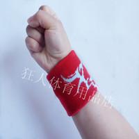 Overcomes 100% flat cotton stripe jacquard wrist support adult sports sweat absorbing wrist support sports