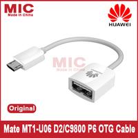 2013 original Huawei mate MT1-U06 D2/C9800 P6 OTG phone Data Cable convertor C7