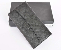18.5CM Classic Women Wallet with Special Caviar Leather & Card & Box Packing / Standard Women Designer Long Wallet (BG232)