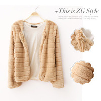 2013 spring and autumn coat female women's small outside butt cardigan spring long-sleeve small cape plush short jacket
