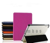 Magnetic PU Leather Skin Smart Leather Tablet Case Cover for ipad mini 50pcs/lot free ship