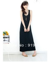 Free shipping 2013 spring and summer bohemian Modal bottoming Slim sling the word vest dress