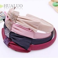 Free Shipping Min.order $10 (mix order) Fashion 2013 New Arrived Korean Elegant Big Bowknot Rhinestone Hairband H56 H57 H58 H59