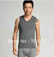 winter new style jiarong men keep warm vest  crew neck  vest  top shapewear 0163 free shipping