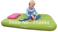 kids air bed, children's inflatable mattress with pillow and intex hand pump, intex 66801, 3 colors choice, free express