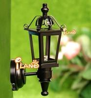 iland 1:12 Dollhouse Miniature Black Copper Wall Light LED Lamp classic toys