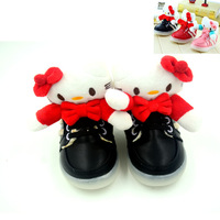 Kids Boots 2013 Winter Spring Children's Fashion Boot For Kid Girls Hello Kitty Waterproof Leather Pu Children Carton Shoes