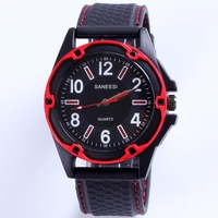 2013 Hot sale quartz watches men sports famous brand name fitting military silicone band date day alarm promotion free shipping