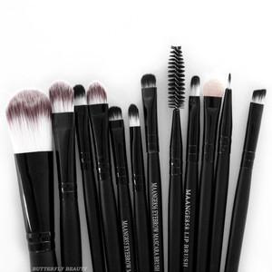 Professional 15PCS makeup brushes Set Eyeshadow Foundation Powder Cosmetic Tools pincel maleta de maquiagem(China (Mainland))
