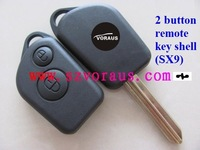 Free shipping Citr 2 button remote key shell, SX9 blade&Citr remote key blank&car key