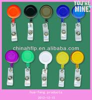 Custom your logo Round Solid Plastic Retractable Pull Reel