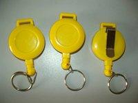 Wholesale Retail Custom your logo Round Solid Plastic Retractable Pull Reel