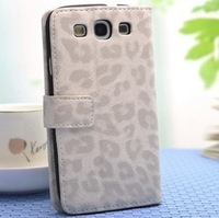For samsung   i9300 holsteins phone case i9308 protective case protective case mobile phone case leopard print leather shell