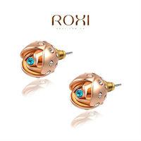 Серьги-гвоздики ROXI elegant platinum plat blue earrings, fashion jewelrys, high-end earrings for women, factory price, Christmas gifts, 2020105660