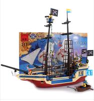 Enlighten Building Blocks Hot Toy Pirate Ship Construction Educational Bricks Toys for Children Compatible Bricks Gift