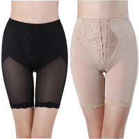 Summer reobtains panties female mid waist abdomen drawing body shaping shorts to strengthen butt-lifting corset
