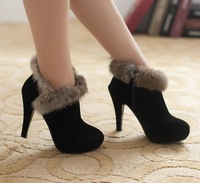Free shipping high heel boots women fashion winter shoes high heel shoes fashion shoes XLU