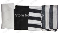 Magic silk/scarves, white/black/white in black , Metal stage magic/magic props/as seen on tv High quanlity
