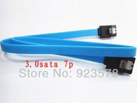 [DHL FREE SHIPPING!] WHOLESALE 500pcs/lot 50cm SATA3.0 6Gbs Cable, Straight to Straight, Blue with Metal Latch